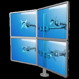 Soporte ViewMate de mesa para 4 pantallas