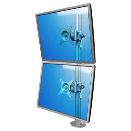 Soporte ViewMate de mesa para 2 monitores