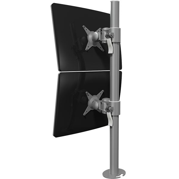 Soporte de mesa para 2 monitores fijo viewmate for Soporte monitor mesa