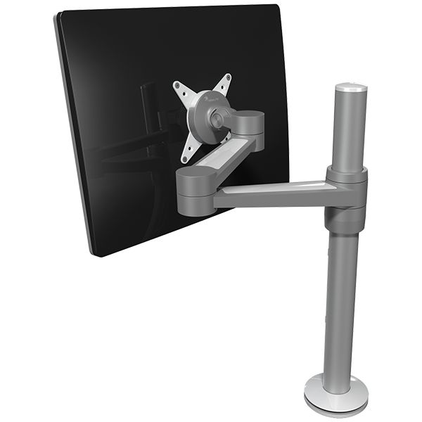 Brazo de mesa 1 monitor con ajuste independiente for Soporte monitor mesa