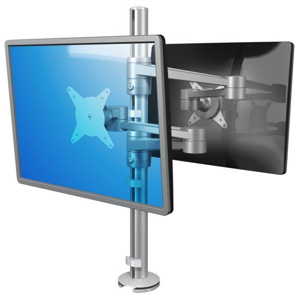 Brazo de mesa 2 monitores enfrentados viewlite for Soporte monitor mesa